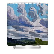 Warm Sector Streets Shower Curtain
