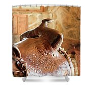 Warm Soft Brown Shower Curtain