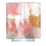 Warm Spring- Abstract Art By Linda Woods Shower Curtain by Linda Woods