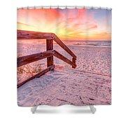 Warm Sunrise Shower Curtain