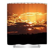 Warm Sunset Shower Curtain