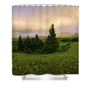 Warm The Soul Panorama Shower Curtain