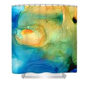 Warm Tides - Abstract Art By Sharon Cummings Shower Curtain