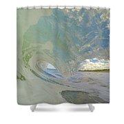 Warm Waves Shower Curtain