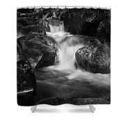 Warme Bode, Harz - Monochrome Version Shower Curtain