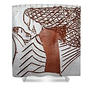 Warmth - Tile Shower Curtain
