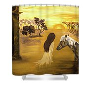 Warmth Of Contentment  Shower Curtain