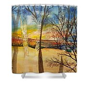 Warmth Waiting Beyond The Hill Shower Curtain