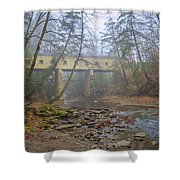 Warner Hollow Rd Covered Bridge Shower Curtain