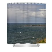 Warning For Sailors. Shower Curtain