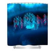 Warped Speed Shower Curtain
