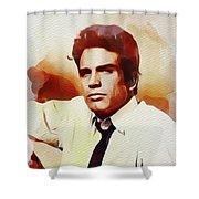 Warren Beatty, Vintage Movie Star Shower Curtain