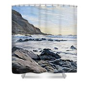 Warren Point Sunset Duckpool Shower Curtain