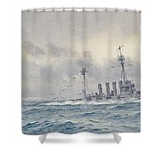Warrior After The Battle Of Jutland Shower Curtain