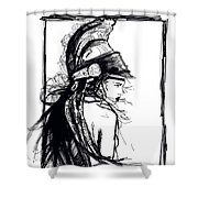 Warrior Girl 1 Shower Curtain