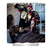 Warrior On A Cannon - New Orleans Shower Curtain