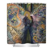Warrior Woman Lean In Shower Curtain