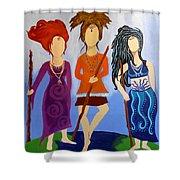 Warrior Woman Sisterhood Shower Curtain