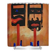 Warriors Shower Curtain