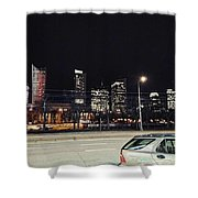 Warsaw At Night Shower Curtain