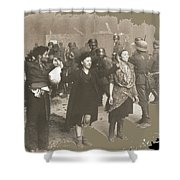 Warsaw Ghetto Uprising Number 2 1943 Color Added 2016 Shower Curtain