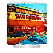 Warshaws Fruitstore On Main Street Shower Curtain