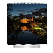 Warwick Castle At Night Shower Curtain