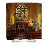 Warwick Castle Chapel Shower Curtain by Chris Lord