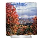212m45-wasatch Mountains In Autumn  Shower Curtain