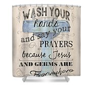 Wash Your Hands Shower Curtain