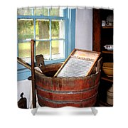 Washboard Shower Curtain by Susan Savad