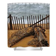 Washed Ashore Shower Curtain