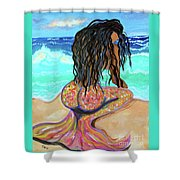Washed Up - Mermaid Shower Curtain