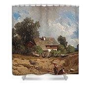 Washerwomen By The River Shower Curtain