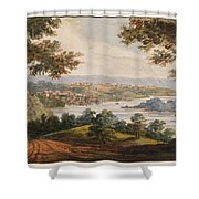 Washington And Georgetown From The Alexandria Road Shower Curtain