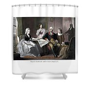 Washington And His Family Shower Curtain