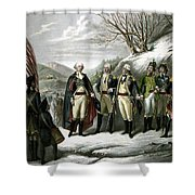 Washington And His Generals  Shower Curtain