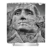 Washington And Setting Moon Bw Shower Curtain