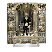 Washington As A Freemason Shower Curtain