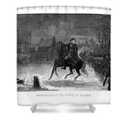 Washington At The Battle Of Trenton Shower Curtain