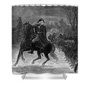 Washington At The Battle Of Trenton Shower Curtain by War Is Hell Store