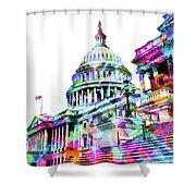 Washington Capitol Color 1 Shower Curtain