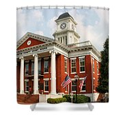 Washington County Courthouse Shower Curtain by Kristin Elmquist
