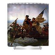 Washington Crossing The Delaware Painting - Emanuel Gottlieb Leutze Shower Curtain