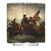 Washington Crossing The Delaware Shower Curtain by War Is Hell Store