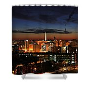 Washington Monument Night Sky Shower Curtain