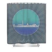 Washington Dc Skyline Minimalism 12 Shower Curtain