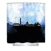 Washington Dc Skyline Minimalism 8 Shower Curtain