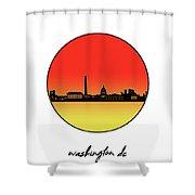Washington Dc Skyline Minimalism 9 Shower Curtain