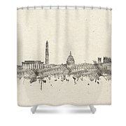 Washington Dc Skyline Music Notes 2 Shower Curtain